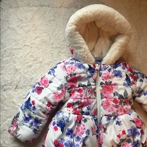 Floral Rothschild Puffer Coat Size 18 Month